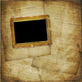 Old  scarred photoframe Royalty Free Stock Photo