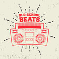Old school beats vintage stamp Royalty Free Stock Photo