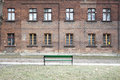 Old school building abandoned in lodz Royalty Free Stock Images
