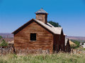 Old school house outside of montrose colorado Stock Photography