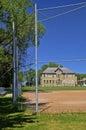 Old school and softball diamond Royalty Free Stock Photo