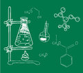 Old science and chemistry  laboratory Royalty Free Stock Photo