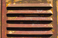 Old scratched paint and rust metal surface, air vent Royalty Free Stock Photo