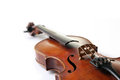 Old scratched violin on white background music collection Royalty Free Stock Image