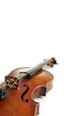 Old scratched violin on white background music collection Royalty Free Stock Photo