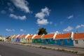 Old servant houses views around curacao caribbean island Stock Photography