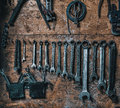 Old set of wrenches Royalty Free Stock Photo