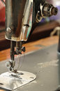 Old sewing machine foot Royalty Free Stock Photo
