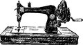 Old sewing machine vector image of a vintage Royalty Free Stock Image