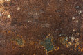 Old shabby rusty metal texture, background or wallpaper Royalty Free Stock Photo