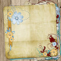 Old shabby style  photoalbum Royalty Free Stock Image