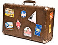 Old shabby suitcase Royalty Free Stock Photo