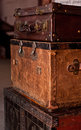 Old shabby suitcases Stock Image