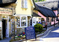 Old shanklin isle of wight thatched pencil cottage and cafe in the part fo england uk Royalty Free Stock Photo