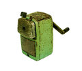 The old sharpener in white background Stock Photos