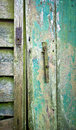 Old shed door close up of a weathered Stock Photo