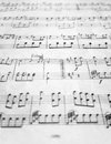 Old sheet music Royalty Free Stock Images