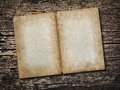 Old sheet of paper on vintage wooden background Royalty Free Stock Photo