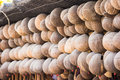 Old shell coconuts in thailand Royalty Free Stock Images
