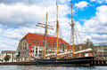 Old ship in Copenhagen, Denmark Royalty Free Stock Photo