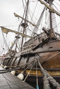 Old Ship galleon details in Maine Royalty Free Stock Photo