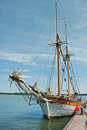 Old ship at the marina Royalty Free Stock Photography