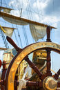 Old ship wheel Royalty Free Stock Photo