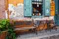 Old Shop Front, Galaxidi, Greee Royalty Free Stock Photo