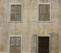 Old Shutter – Louvre Window Doors Royalty Free Stock Photo