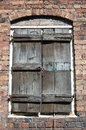 Old shuttered window Stock Photos