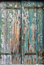 Old shutters wooden on the closed window Royalty Free Stock Image