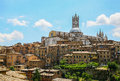 Old sienna view of italy Royalty Free Stock Photography