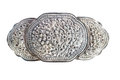 Old silver buckle Royalty Free Stock Photo