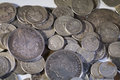 Old Silver US Coins Royalty Free Stock Photo