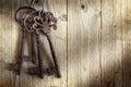 Old skeleton keys Royalty Free Stock Photo