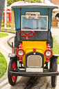 Old small child car in the amusement park Royalty Free Stock Photos