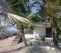 Old small cottage on shores of Arabian sea
