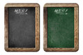 Old small menu blackboards or chalkboards with clipping path isolated included Royalty Free Stock Image