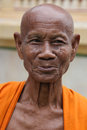 Old smiling buddhist monk