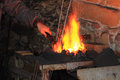 Old smithery and fire as very nice background Royalty Free Stock Photography