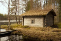 Old smoked sauna, Finland Royalty Free Stock Photo