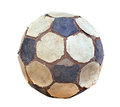 Old soccer ball Royalty Free Stock Image