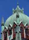 Old south church tower the lovely colorful of the boston massachusetts Stock Image