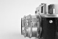 Old soviet camera film side view Royalty Free Stock Photography