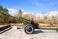 Old soviet cannon union from world war ii in victory park yerevan Royalty Free Stock Photos