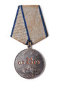 Old soviet medal for courage isolated on white Royalty Free Stock Image