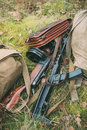 Old Soviet Russian Red Army Submachine Gun PPS-43 Of World War I