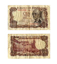 Old spanish bill Royalty Free Stock Photo