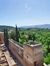 Old Spanish castle in Granada. Alhambra. Spain Royalty Free Stock Photo
