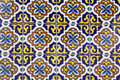 Old spanish ceramic tiles colorful background Royalty Free Stock Photography